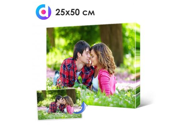 Фото на холсте, печать на холсте 25 х 50 см