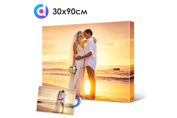 Фото на холсте, печать на холсте 30 х 90 см