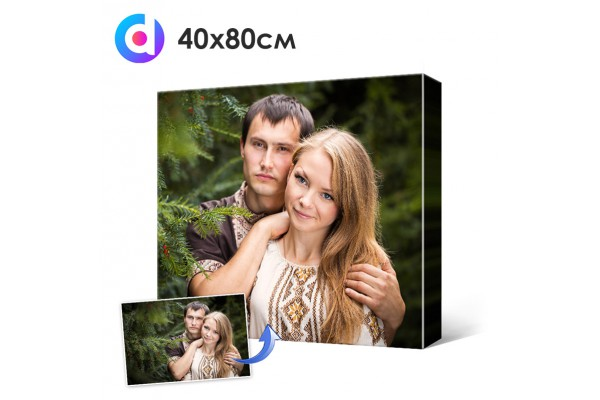 Фото на холсте, печать на холсте 40 х 80 см